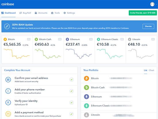 deposito bitcoin da gdax a bena